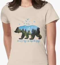 Everyday is Earth Day Womens Fitted T-Shirt