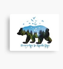 Everyday is Earth Day Canvas Print