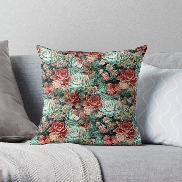 Succulent Succulents Throw Pillow