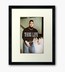 Throwback - Dwayne Johnson Framed Print