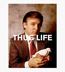 Throwback - Donald Trump Photographic Print