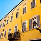 Yellow Buildings of Parma by Rae Tucker