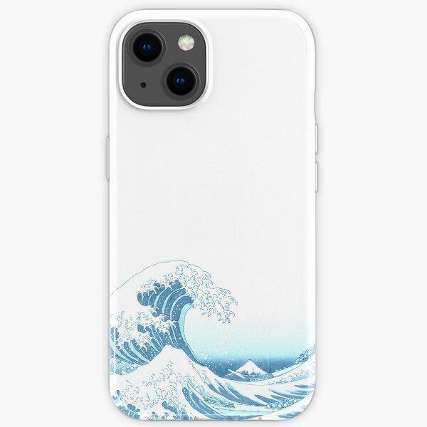 The Great Wave off Kanagawa - by Hokusai - MONOTONE iPhone Soft Case