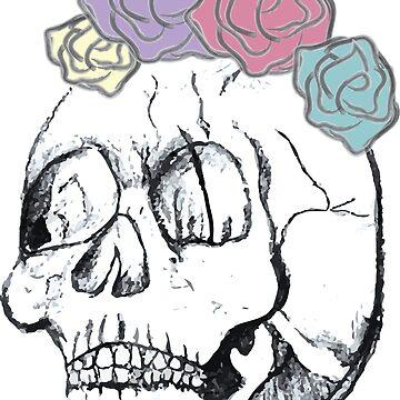 Flower Skull by likejill