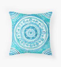 PEARLS OF WISDOM Mermaid Mandala Throw Pillow