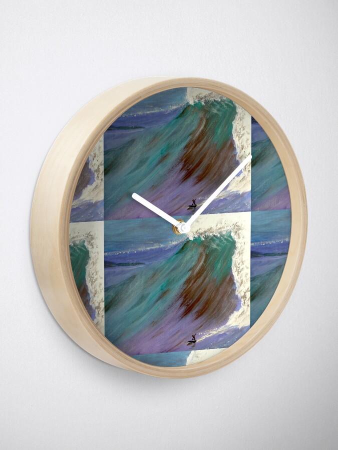 Alternate view of Surfer. Ocean wave Clock