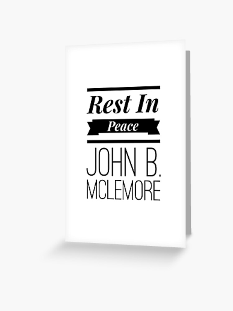 Tarjetas De Felicitación Descanse En Paz John Banner De Tees4gees