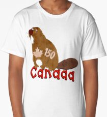 Canadian Beaver Long T-Shirt