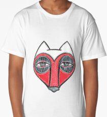 fox face heart Long T-Shirt