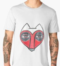 fox face heart Men's Premium T-Shirt