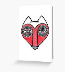 fox face heart Greeting Card
