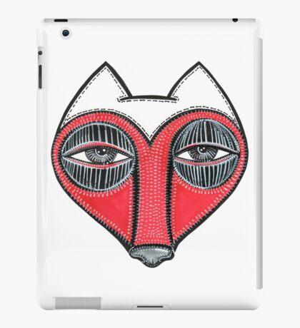 fox face heart iPad Case/Skin