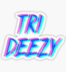 Tri Deezy Neon Sticker