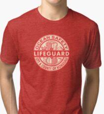 Hawaii Lifeguard Logo Tri-blend T-Shirt