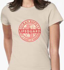 Hawaii Lifeguard Logo Womens Fitted T-Shirt