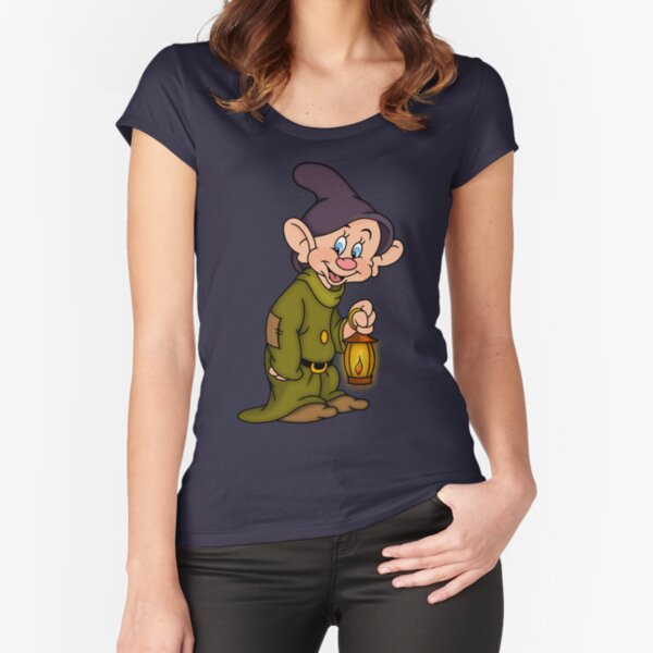 Dopey Lantern Fitted Scoop T-Shirt