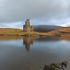 Ardvreck Castle reflecting in Loch Assynt by Maria Gaellman