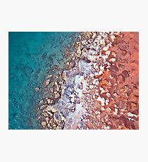 gantheaume rock pattern arrial  Photographic Print