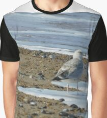 Two Watching Sea-Gulls Graphic T-Shirt