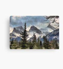 The Three Sisters - Canadian Rocky Mountains Canvas Print