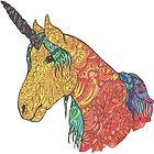 Rainbow unicorn by Lynn Excell