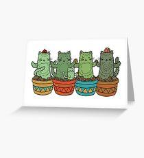 Catcus Garden (Single Row) Greeting Card
