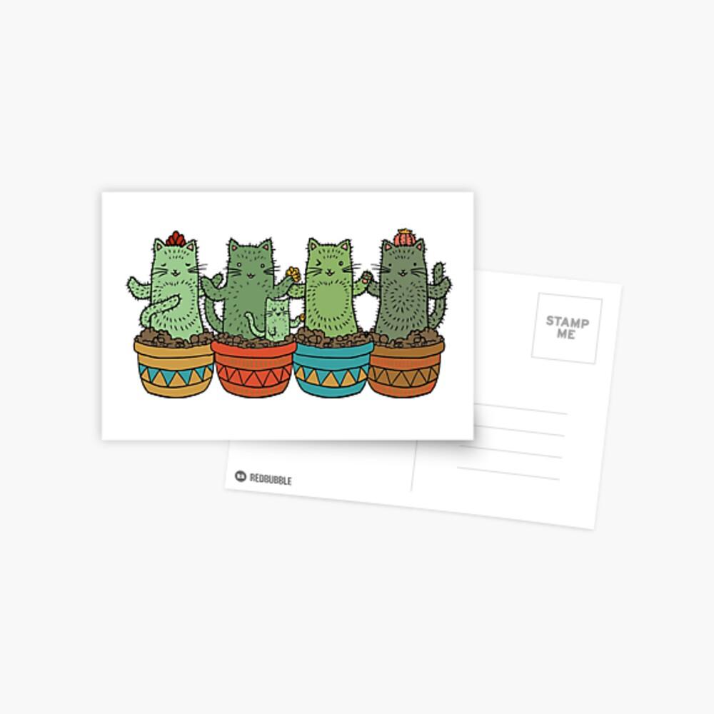 Catcus Garden (fila única) Postal