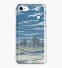 Henry Farrer - Winter Scene In Moonlight iPhone Case/Skin