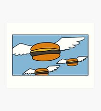 Heavenly Burgers Art Print