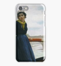 Henry Bacon - Lady In A Boat iPhone Case/Skin