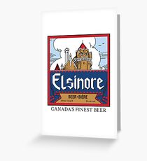 """Elsinore Beer"" - as seen on ""Strange Brew"" Greeting Card"