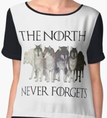 THE NORTH NEVER FORGETS Women's Chiffon Top