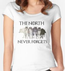 THE NORTH NEVER FORGETS Women's Fitted Scoop T-Shirt