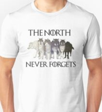 THE NORTH NEVER FORGETS Unisex T-Shirt
