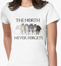 THE NORTH NEVER FORGETS Women's Fitted T-Shirt
