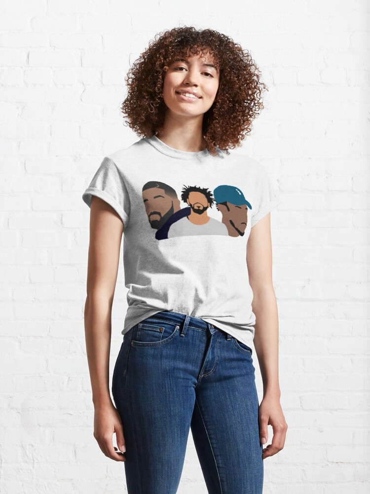Alternate view of Drake, J Cole, Kendrick Lamar Classic T-Shirt