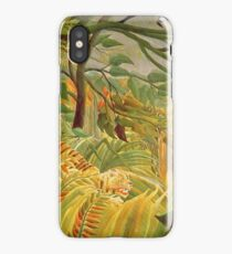 Henri Rousseau - Tiger In A Tropical Storm (Surprised) iPhone Case/Skin