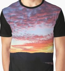 Multi Colored Clouds Graphic T-Shirt