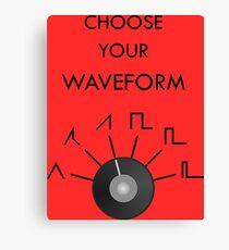 Choose Your Waveform - Black Canvas Print