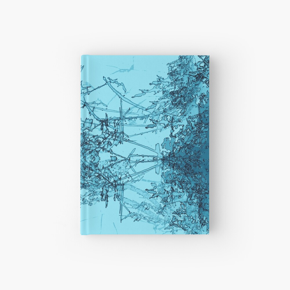 Edgy Turquoise Hardcover Journal