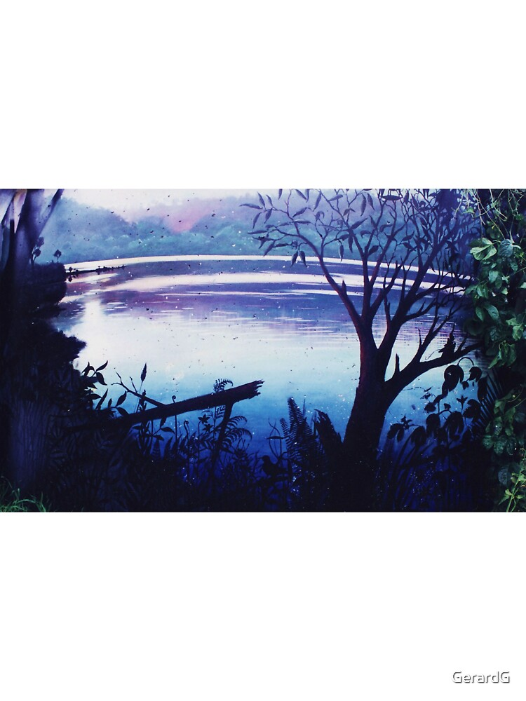 LAKE SCENE ON WATER TANK by GerardG
