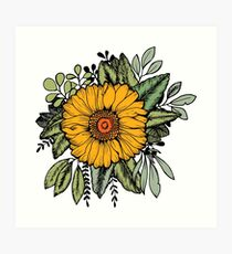 SUNFLOWER Art Print