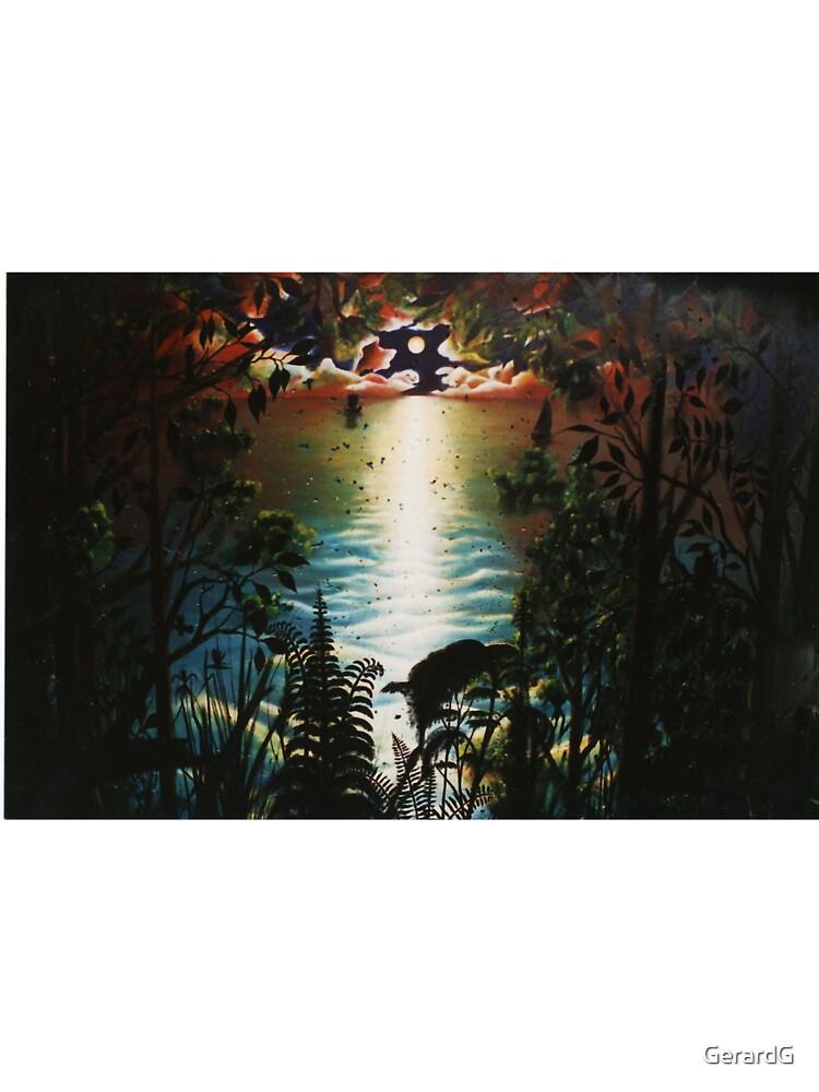 SUNSET ON CONCRETE TANK by GerardG