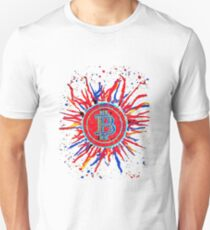 'Bitcoin Explosion' in red.  Unisex T-Shirt
