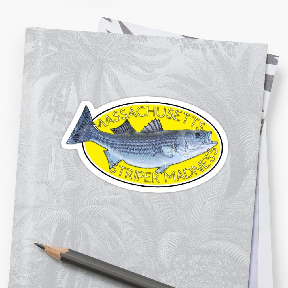 Striper Fishing - Massachusetts Striper Madness (Yellow) by NewNomads