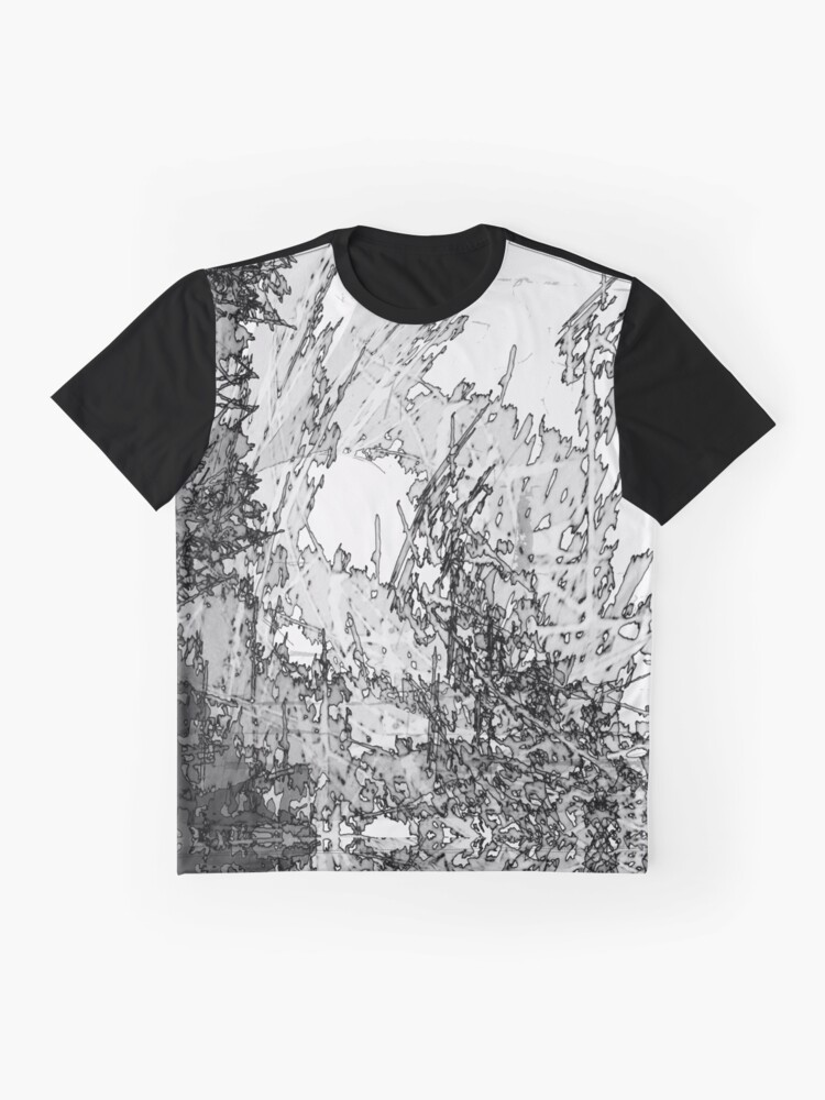 Alternate view of Edgy Black and White Graphic T-Shirt