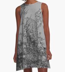 Edgy Grey A-Line Dress
