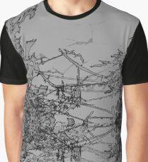 Edgy Grey Graphic T-Shirt