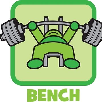 Kawaii Powerlifter - Squat, Bench Press, Deadlift (Pictograms) by mchanfitness
