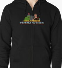 He's a friend from work Zipped Hoodie